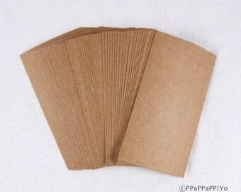 Paper Business cards (50) Kraft paper KL01 - Blank