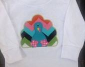 Personalized Turkey  Appliqué Short or Long Sleeve Onesie or Shirt