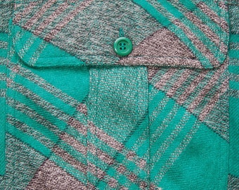 1980's French Connection over sized plaid blouse