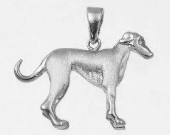 3D GREYHOUND Charm  in 925 Sterling Silver 24-16