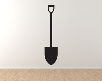 Garden Instruments #4 - Shovel Spade Digging Tool Land Wall Vinyl Decal Home Decor