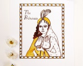 "Arabian Nights Nursery Art Print - ""The Princess"""