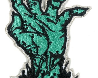 "3"" Zombie Corpse Hand Iron-ON Patch - The Walking dead Outbreak Apocalypse Survival Horror Undead Creature"