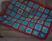 Turquoise Trove Granny Square Afghan