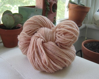 Naturally Dyed Light Pink Wool Yarn
