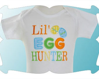 Easter shirt or bodysuit egg hunt design