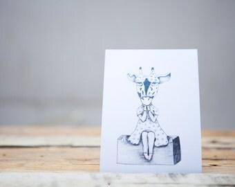 Black & White Postcard Set Original Animals Illustrations