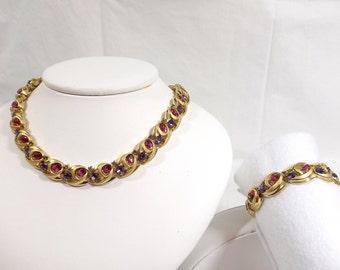 CROWN TRIFARI Necklace and Bracelet Set