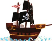 Black Sails Pirate Ship: DIY Paper Craft Calendar- Download