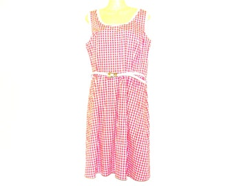 Tea Dress, Summer Dress, Check Dress,Circle Dress, Swing Dress, Dresses, Womens Dresses, Size 14, Size 12, By Rebeccas Clothes