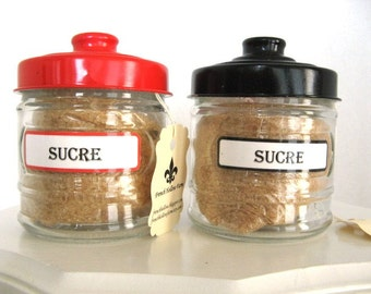 Vanilla Sugar in Charming French Style Glass Jar with Black Lid 8oz