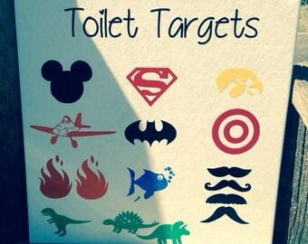 Potty Training Toilet Targets - Set of 4