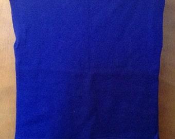 Blue wool vest or top.
