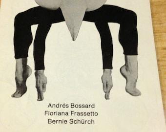 Mummenschanz Program - Bijou Theatre - 1977