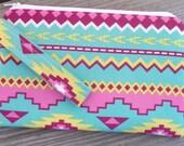 Adult Size, Aztec Print, Aztec Gray Fabric, Wristlet Purse, Cell Phone Wristlet, Bags, Purses, Wristlet, iphone Wristlet, Gift for her