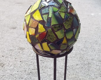 Garden Decor Globe, Mosaic Orb, Mosaic Ball, Gazing Ball, Crystal Ball, Home Decor, Romantic Decor