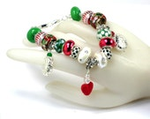 "CHRISTMAS  Bracelet 8 1/2"" with an extender"