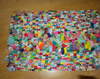Scrappy rag  rugs /fun and colorful