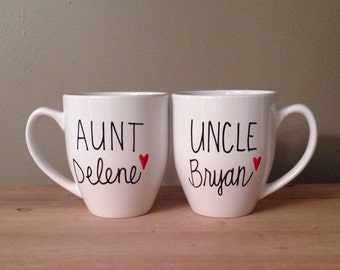 Pregnancy reveal, pregnancy reveal mug, aunt and uncle mug, Pregnancy announcement, aunt and uncle gift