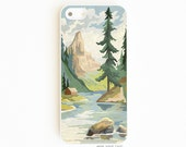 iPhone 5 Case. iPhone 5S Case. Vintage Paint By Number Mountains. iPhone 5S Cases. Phone Case. iPhone Case. PBN Phone Case.