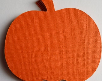 12 Pumpkins 3 inch,Die Cuts,Scrapbook,Thanksgiving,Halloween,Card Making,Tags,Holiday Decor,Banners