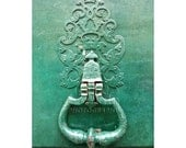 Paris Door Photo, Mint Green Door, Paris Photography, Shabby Chic Decor, Travel Photography, Sea Green