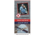 Boston Red Sox NFL, NBA, NCAA or College Football & Basketball Sports Game Ticket Stub Save the Date Wedding Photo Magnet