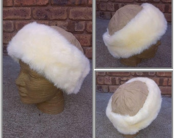 Warm Ladies Faux Fur Handmade Hat