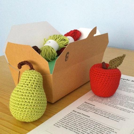 Crochet Kits For Beginners : Crochet Kit / DIY Kit Crochet Fruit / Crochet by LittleConkers