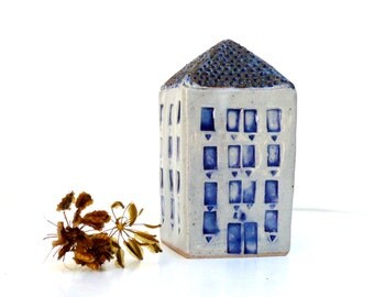 Ceramic House, Ceramic Sculpture, Blue And White Ceramics