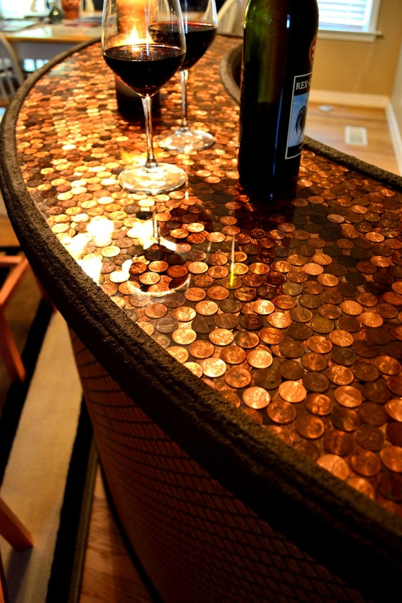 Wine Bar Penny Top Home Serving By TreasureMountainNC