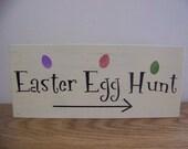 Easter Egg Hunt Sign Primitive Decor