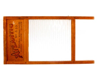 Vintage Atlantic National Glass Washboard 510 - Ribbed Glass Pattern - Patent 1283148