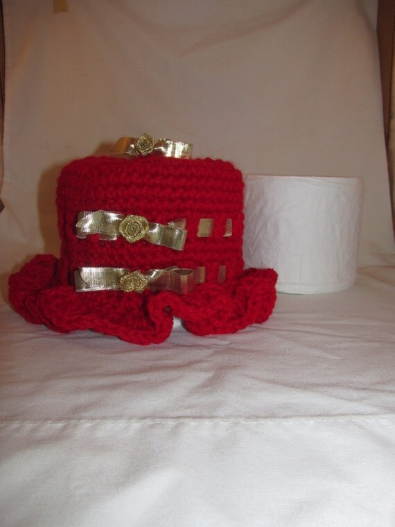 Ruffled Toilet Paper Roll Cover By Bettysblock On Etsy