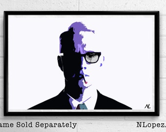 Madmen Roger Sterling Minimalist Pop Art Poster Print #2 Canvas