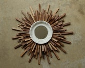 Mid Century Wood Starburst, Walnut Wood Wall Art