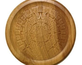 Engraved Mayan Calendar Wall Hanging