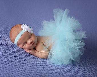 Newborn Tutu Set, Baby Tutu Set, Tutu, Tutu Set, Aqua Tutu, Aqua Tutu Set, Photo Prop, Newborn Skirt, Tutu Skirt, Newborn Photo Prop, Aqua