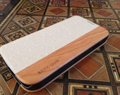 GALAXY S4 real OSTRICH and american cherry wood case