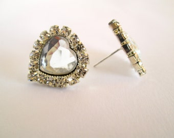 Crystal Bridal Stud Earrings, Rhinestone Stud Earrings, Bridal Earrings, Wedding Jewellery,