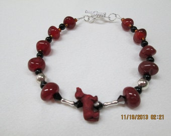 Dachsund bracelet red brown dog