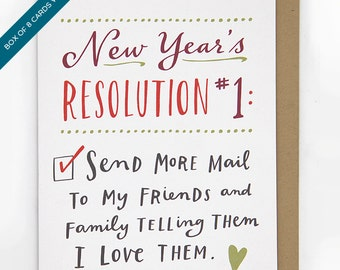 Box of 8 New Year's Resolution #1 Cards by Emily McDowell