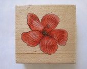 """Whispers Floral  Rubber Stamp Stencil Size 2"""" Length E619s"""