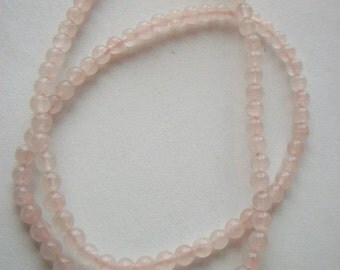 Natural Rose Quartz 4mm Bead Strands