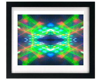 11 x 8.5 Psychedelic Fractal Hippie Rave Art Print FREE shipping