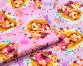 Disney Tangled Rapunzel Cotton Japanese Fabric / Half Yard
