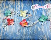 Flower Braiding Wrap, Braid Clip, Braid Strand, Tropical Braid In, Braid Extension, Braid Accessory, Hair Accessory, Braid Clip, Floral