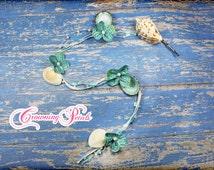 Flower Braiding Wrap, Mermaid Hair Piece, Braid Strand, Beach Braid In, Braid Extension, Braid Accessory, Shell Hair Accessory, Braid Clip