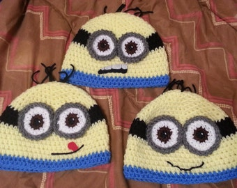 Minion beanie (made to order)
