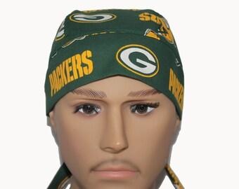Biker Dorag  - Green Bay Packers skully Unisex Do Rag